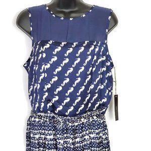 BCBGMaxAzria Women's Seahorse Belted Dress Medium